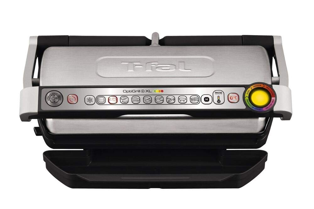 T-FAL Indoor Grill, Electric Grill, Portable Grill, Stainless Steel, Removabl. + ZU79498 by Tefal