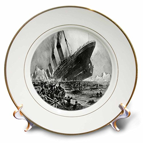 3dRose cp/_26371/_1 University of Chicago-Porcelain Plate 8-Inch