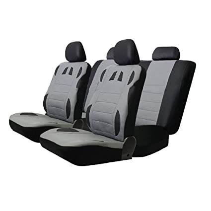 2x funda del asiento fundas para asientos ya referencias gris para kia Mazda mini mitsubishi nissan