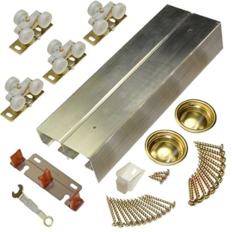 134F Sliding Bypass Door Hardware (72\u0026quot; ...  sc 1 st  Amazon.com & Amazon.com: 134F Sliding Bypass Door Hardware (72\