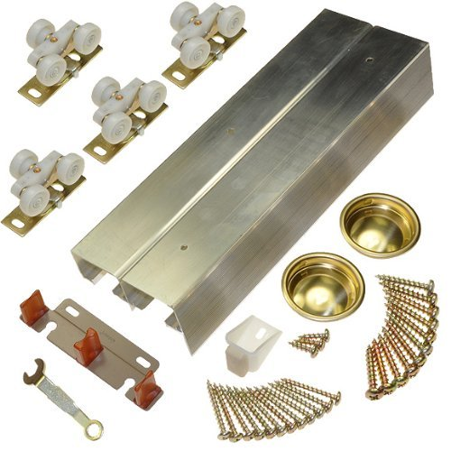 Johnson Hardware 138F Series Sliding Bypass Door Hardware (72 Inch - 2 Door System)