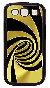 Samsung S3 Case Yellow and Black Swirl PC Custom Samsung S3 Case Cover Black
