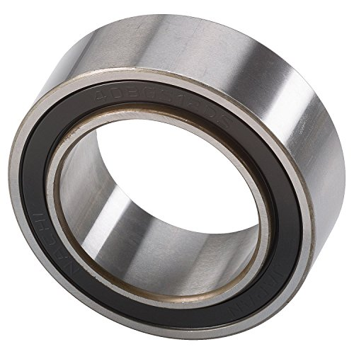 Nachi Bearings 40BGS12G-2DS Double Row Auto Air Conditioning Angular Contact Ball Bearing, 40 mm ID, 62 mm OD, 20.6 mm Width, 24 mm Inner Race Width