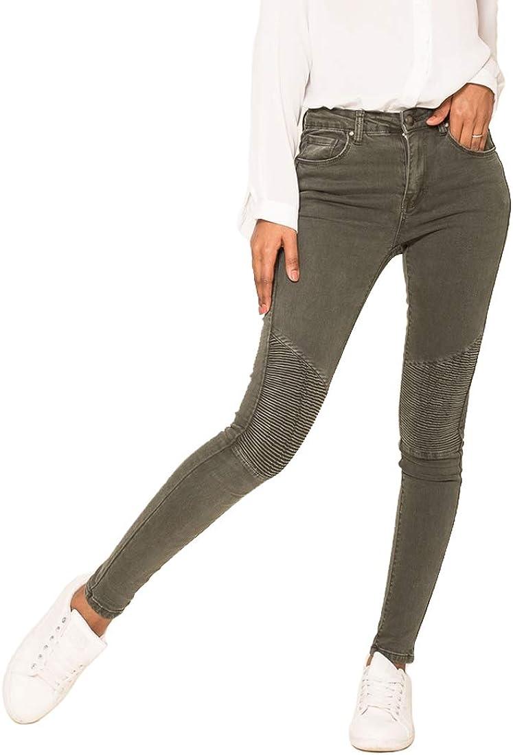 Nina Carter Mujer Vaqueros Biker Pitillos Pantalones Jeans Estilo Motociclista Talla 34 a 42