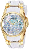 Invicta Women's 'Disney Limited Edition' Quartz Stainless Steel and Silicone Casual Watch, Color:White (Model: 25125)