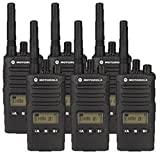 6 Pack of Motorola RMU2080D Two way Radio Walkie Talkies