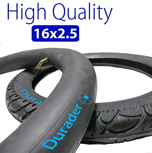 (16x2.50 Inner Tube with Bent Valve Stem & Tire set for Electric Bike )