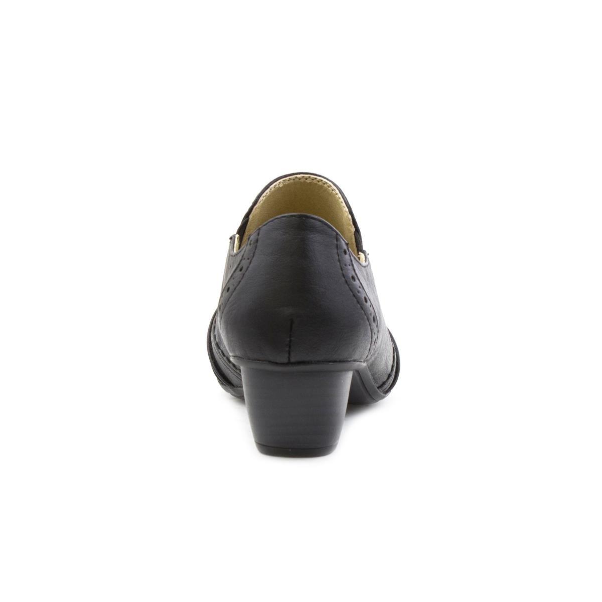 ed73aea4c98 Lilley & Skinner Womens Black Heeled Brogue Shoe