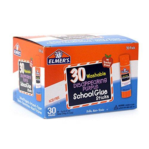 Washable School Glue Sticks, Purple, 30/Box, Sold as 1 Box ()