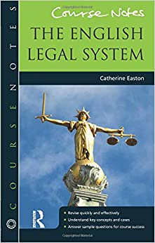 Book Course Notes: the English Legal System