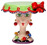 Appletree 6-1/2-Inch Sugar High Social by Babs Ceramic Cake Stand by Appletree