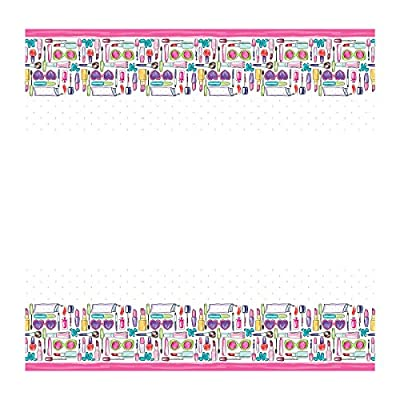 SPA Girls Makeup Birthday Party Supplies Pack - Dinner Plates, Cake Plates, Napkins, Cups (Deluxe - Serves 16): Toys & Games