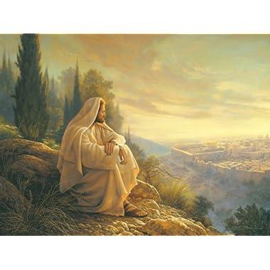 Oh Jerusalem by Greg Olsen Religious Jesus Print Poster 31x23
