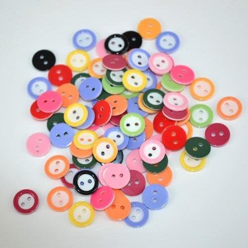 lot de 50 bouton scrapbooking 4 trou orange mercerie couture 9 mm couture