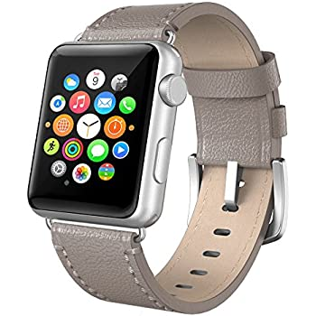amazon com apple watch band 42mm leather swees iwatch genuine apple watch band 38mm leather swees iwatch genuine leather bands strap replacement wristband stainless steel clasp buckle for apple watch series 2