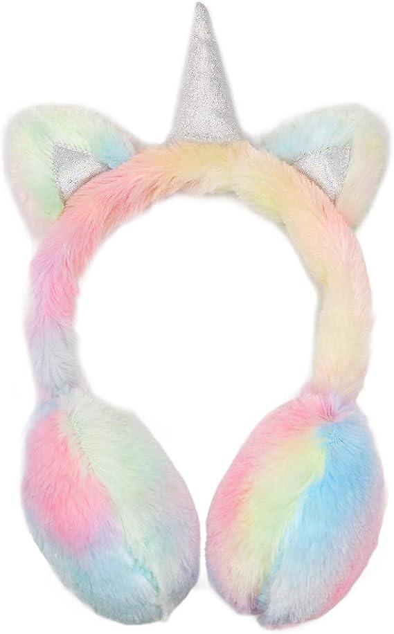 Ear Muffs Earmuffs Warmer Fluffy Plush Toddler Kids childrens Winter Gift FA
