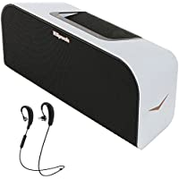 Klipsch Music Center KMC 3 Portable Speaker System White (1016240) with Klipsch R6 Wireless In-Ear Bluetooth Headphones with Mic and Bluetooth