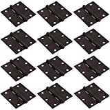 RZdeal 58330.8mm 20pcs Matte Black Door Hinges with Radius Corners