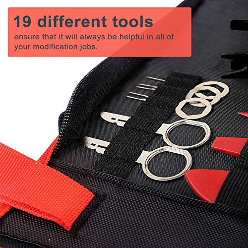 TOOLBABA 19 pcs Trim Removal Tool Set , Car Panel Removal Tool, Auto Trim Removal Tool Kit with Storage Bag by TOOLBABA (Image #5)