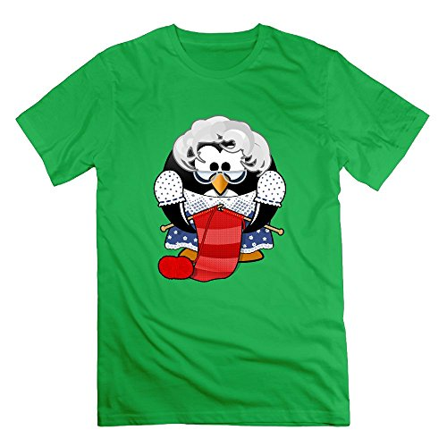 Perfect Dowdy Crew Neck Penguin in A Sweater Shirts Short Sleeve Cotton Men