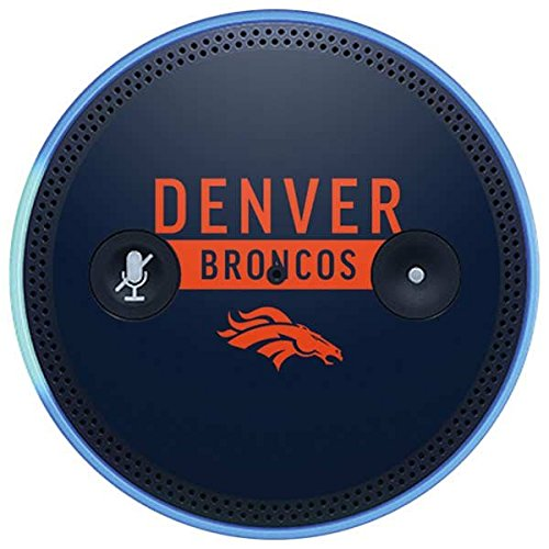 Skinit NFL Denver Broncos Amazon Echo Plus Skin - Denver Broncos Blue Performance Series Design - Ultra Thin, Lightweight Vinyl Decal Protection