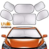 Parasol para Coche, Bloqueador Solar para Coche, Bloqueador protector contra rayos solares de rayos UV, Se adapta a varios vehículos para parabrisas Ventanas laterales Ventana trasera, Juego de 6 piezas