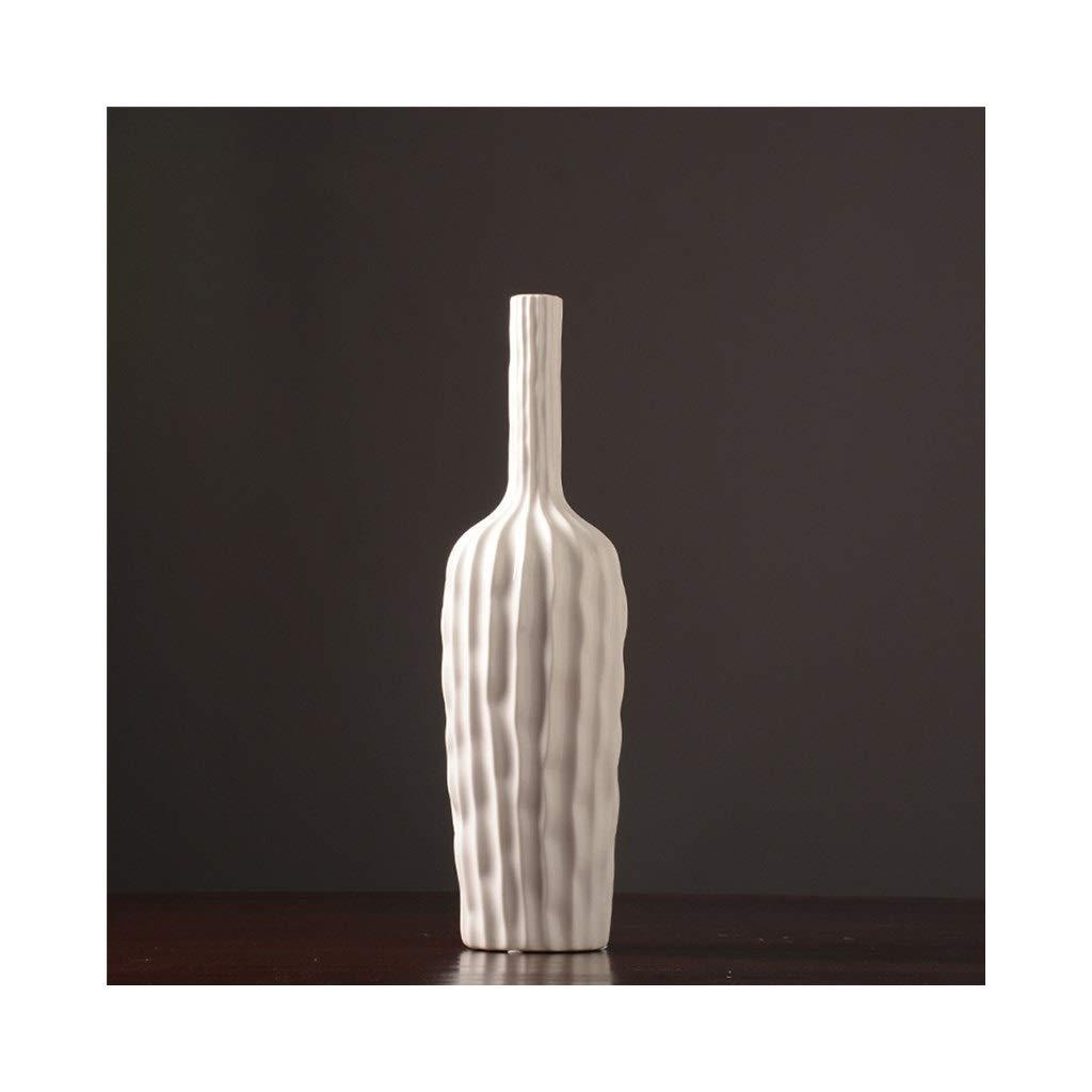 波状の白いセラミック花瓶の装飾現代のクリエイティブファッション花瓶ダイニングテーブルの家の装飾 (Size : 15cm*51.5cm) B07STCJBX6  15cm*51.5cm