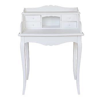 Kleiner Wei Er Schreibtisch , Grafelstein Kleiner Sekretär Marie Weiß Im Landhausstil Schreibtisch