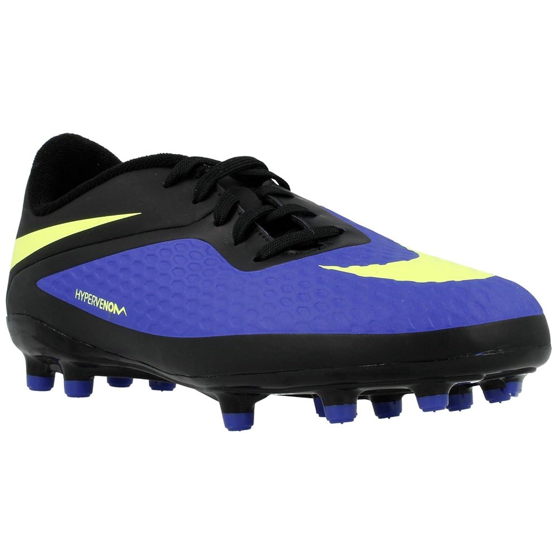 Nike Hypervenom Phelon AG JR - Botines de Fútbol - Jóvenes - Azul Hyper/Negro/Volt, 3 US: Amazon.es: Zapatos y complementos
