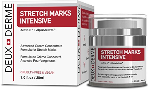 Deux Derme - Stretch Mark Intensive removal Cream With Vitamin E, Shea, Cocoa Butter for Pregnancy, Weight Gain