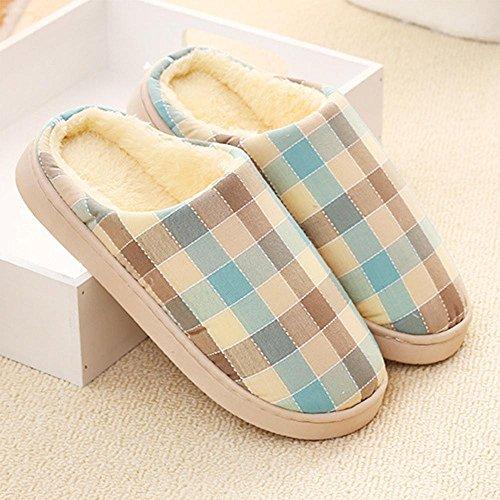 maison intérieur femmes pantoufles Longless mois pantoufles des épais chaud chaussures Hiver maison coton chaussures à deux fond C la pantoufles en 77pTq6