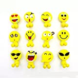 Creativee Kids Toothbrush Holder With Suction Cup For Wall Mounted Bathroom 5 Set(5PCs emoji)