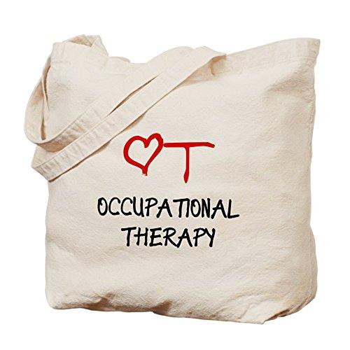 Terapia Ocupacional CafePress–corazón–Gamuza de bolsa de lona bolsa, bolsa de la compra
