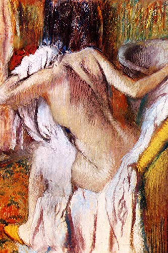 American Gift Services - After The Bath Woman Drying Herself Edgar Degas Fine Art Giclee Poster Print - 11x17