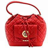 Love Moschino Women's Quilted Medium Red Leather Satchel Handbag