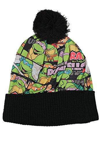 Ninja Turtle Beanie (Authentic TEENAGE MUTANT NINJA TURTLES TMNT Sublimated Cuff Pom Beanie Hat NEW)