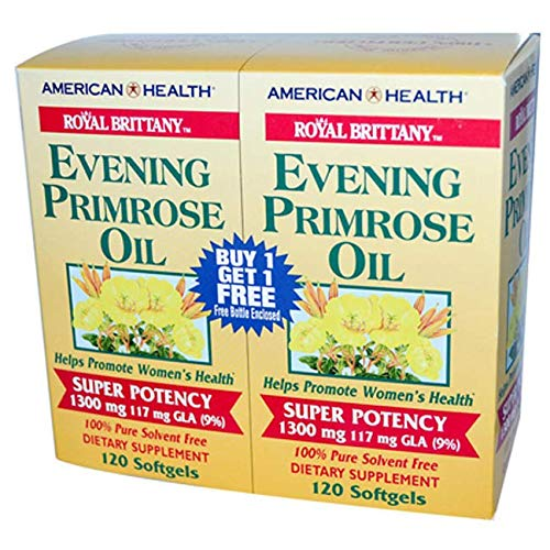 Royal Brittany Evening Primrose Oil - Twin Pack 1300 Milligrams 2/120 Sgels by American Health