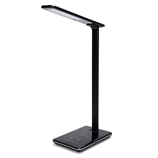 Garyesh Desk Lamp Table Lamps with Qi Wireless Charger for