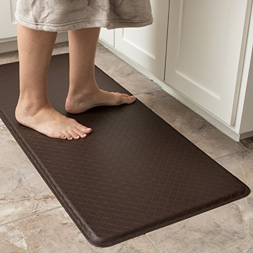 """GelPro Classic Anti-Fatigue Kitchen Comfort Chef Floor Mat, 20x48"""", Linen Granite Gray Stain Resistant Surface with 1/2"""" Gel Core for Health and Wellness by GelPro (Image #5)"""
