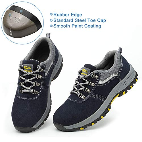 SUADEX Indestructible Steel Toe Shoes Men Women, Work Safety Shoes Working Shoes Industrial Construction Shoes