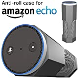 Amazon Echo Case Cover Stand [Anti-Roll] Silicone Accessories by CUVR Works With Alexa, Charger & Remote. Not Compatible with Echo Dot (Gray)