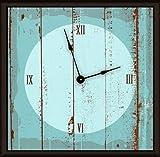 Green Leaf Art Blue Wood Art Clock Review