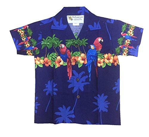 Navy Aloha Shirt - 3