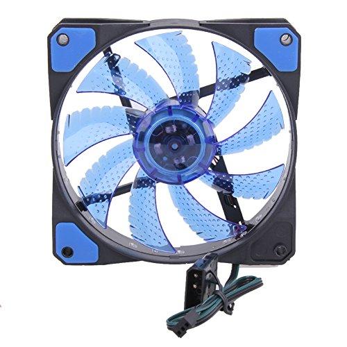 15 LED 12V Light Neon Quite Computer Case Cooling Fan Mod (Green) - 2