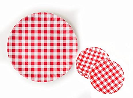 180 Degrees Red Gingham Melamine Plates (4 plates 9\u0026quot; Inch diameter and 1 plate  sc 1 st  Amazon.com & Amazon.com: 180 Degrees Red Gingham Melamine Plates (4 plates 9 ...