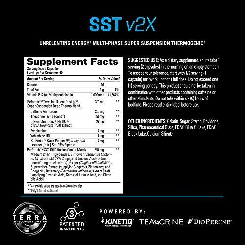 PERFORMIX SST v2X Suspension Super Thermogenic - 3 Patented Ingredients - Multi-phase Release for Easy Absorption - Energy, Fat Burner, Mental Focus - 120 capsules by PERFORMIX (Image #1)