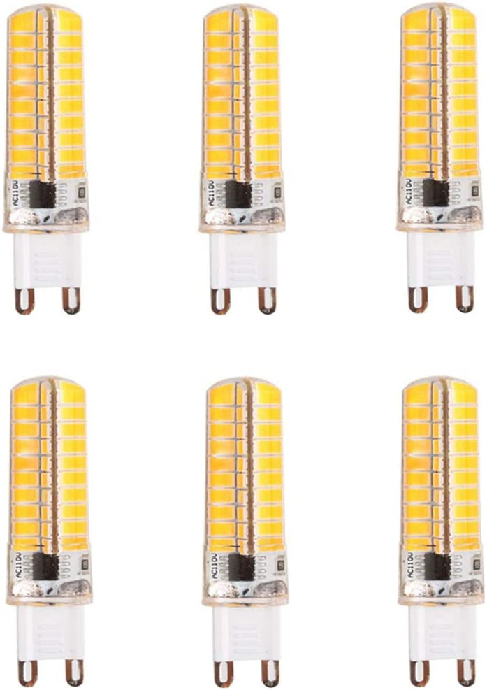 JKLcom G9 4W LED Bulb Dimmable 4 Watt,G9 40W Halogen Equivalent,Warm White 3000K G9 Ceramic Base LED Corn Lights for Home Lighting Pendants Chandeliers,G9 Bi-Pin Base,45 LED 2835 SMD,5 Pack