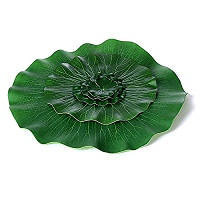 LSHCX Artificial Floating Lotus Leaves Artificial Foliage Pond Decor Pack of 5