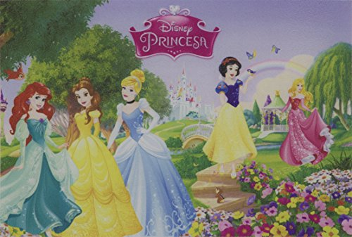 Tapete Linha Digital Disney Princesas Primavera JolitexVerde 40x60cm