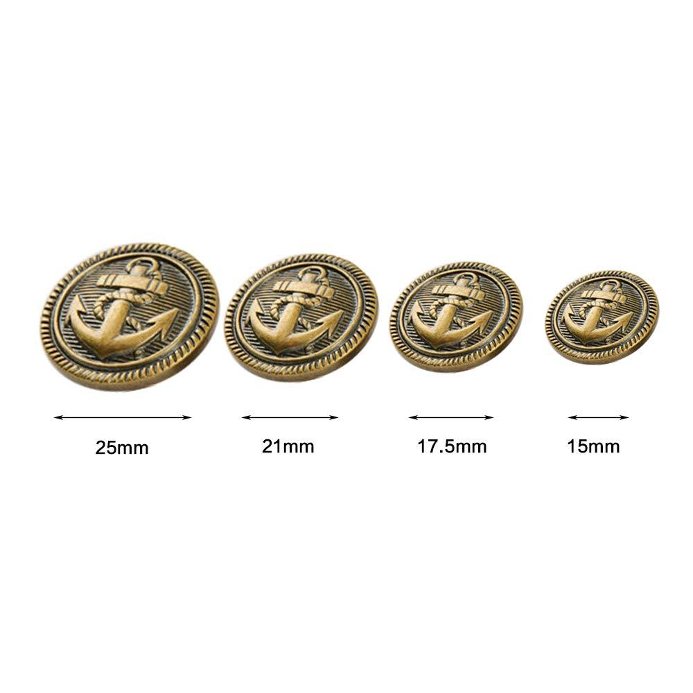 goldfarben Legierung 10/St/ück 15 mm gold Metall-Kn/öpfe Tong Yue L/öwenkopf